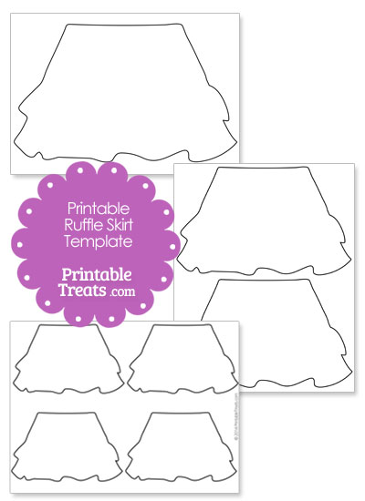 Ruffle Skirt Shape Template from PrintableTreats.com