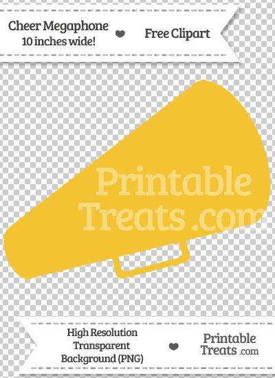 Saffron Yellow Cheer Megaphone Clipart from PrintableTreats.com
