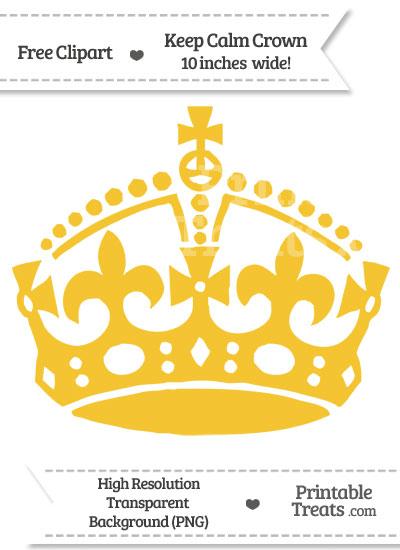 Saffron Yellow Keep Calm Crown Clipart from PrintableTreats.com