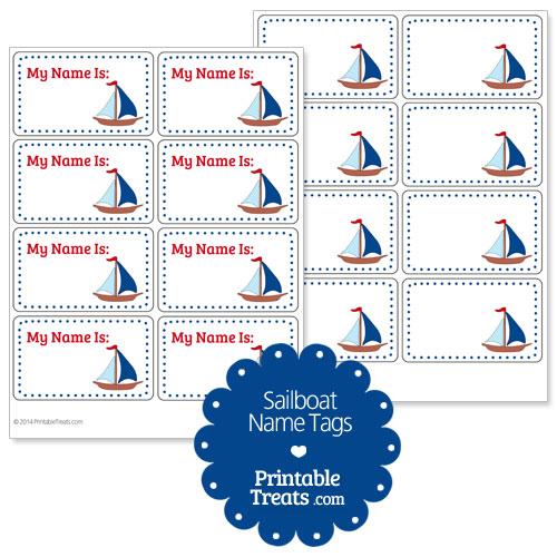 sailboat name tags