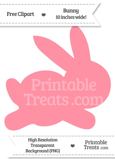 Salmon Pink Bunny Clipart from PrintableTreats.com