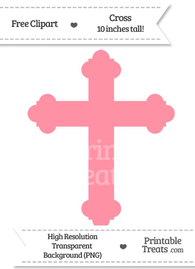 Salmon Pink Cross Clipart from PrintableTreats.com