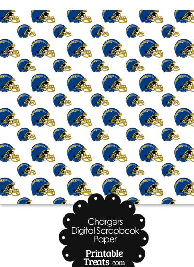 San Diego Chargers Football Helmet Digital Paper from PrintableTreats.com
