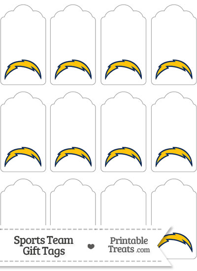 San Diego Chargers Gift Tags from PrintableTreats.com