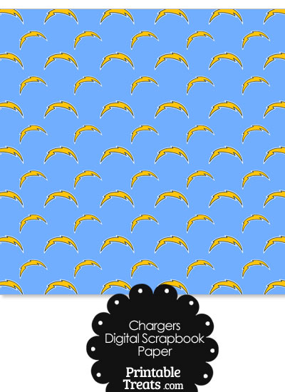 San Diego Chargers Logo Digital Paper with Baby Blue Background from PrintableTreats.com