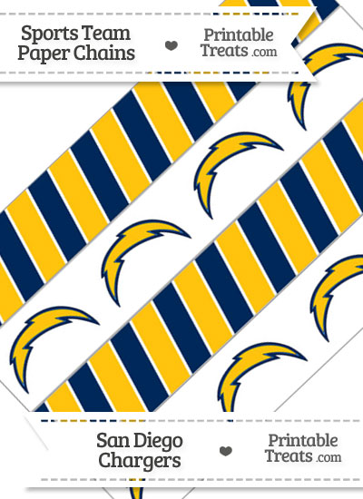 San Diego Chargers Paper Chains from PrintableTreats.com