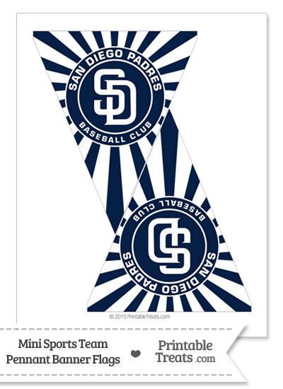 San Diego Padres Mini Pennant Banner Flags Printable Treats Com