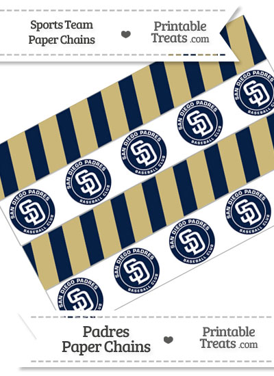 San Diego Padres Paper Chains from PrintableTreats.com