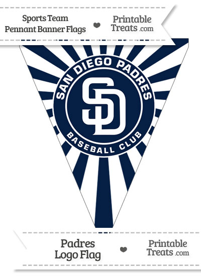 San Diego Padres Pennant Banner Flag from PrintableTreats.com