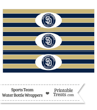 San Diego Padres Water Bottle Wrappers from PrintableTreats.com