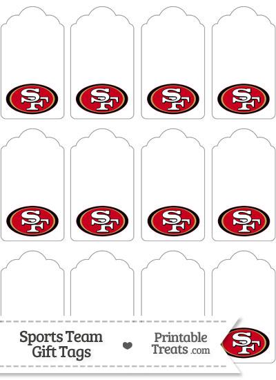 San Francisco 49ers Gift Tags from PrintableTreats.com