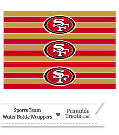 San Francisco 49ers Water Bottle Wrappers from PrintableTreats.com