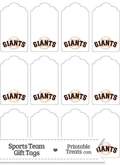 San Francisco Giants Gift Tags from PrintableTreats.com