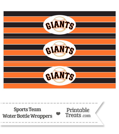 San Francisco Giants Water Bottle Wrappers from PrintableTreats.com
