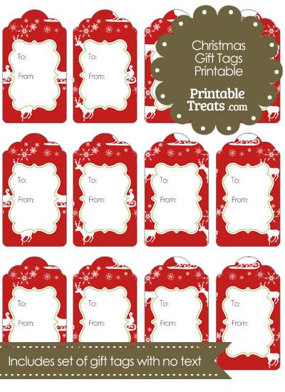 Santas Sleigh Gift Tags from PrintableTreats.com