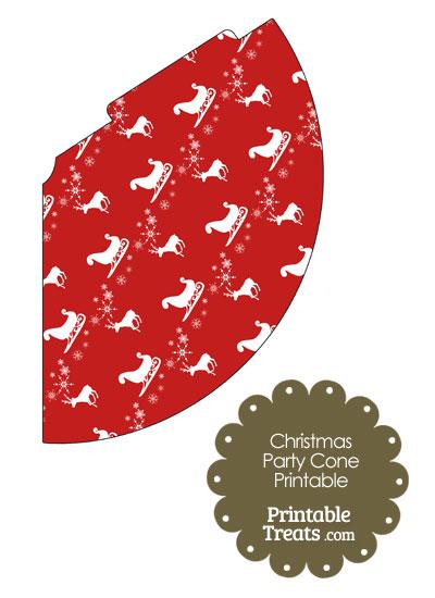 Santas Sleigh Party Cone from PrintableTreats.com
