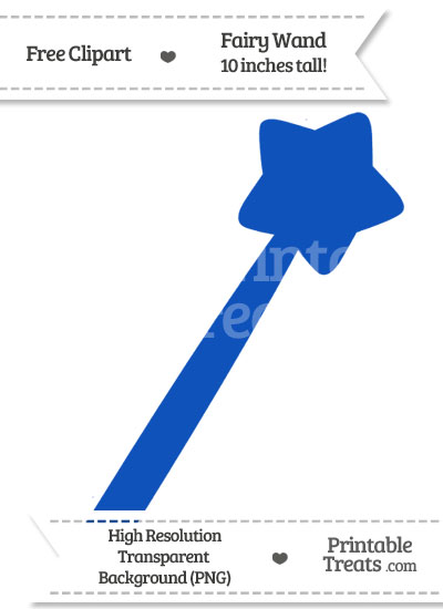 Sapphire Blue Fairy Wand Clipart from PrintableTreats.com