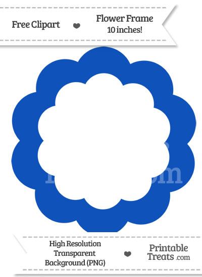 Sapphire Blue Flower Frame Clipart from PrintableTreats.com