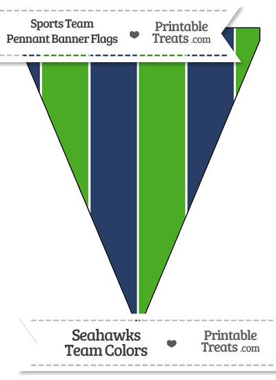 Seahawks Colors Pennant Banner Flag from PrintableTreats.com