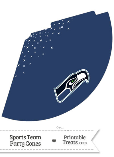 Seahawks Party Cone Printable from PrintableTreats.com