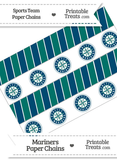 Seattle Mariners Paper Chains from PrintableTreats.com