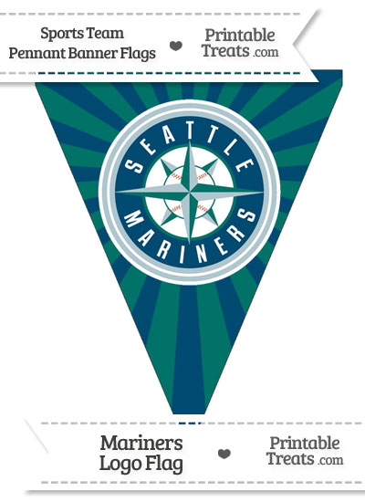 Seattle Mariners Pennant Banner Flag from PrintableTreats.com