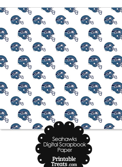 Seattle Seahawks Football Helmet Digital Paper from PrintableTreats.com