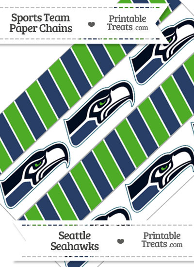 Seattle Seahawks Paper Chains from PrintableTreats.com