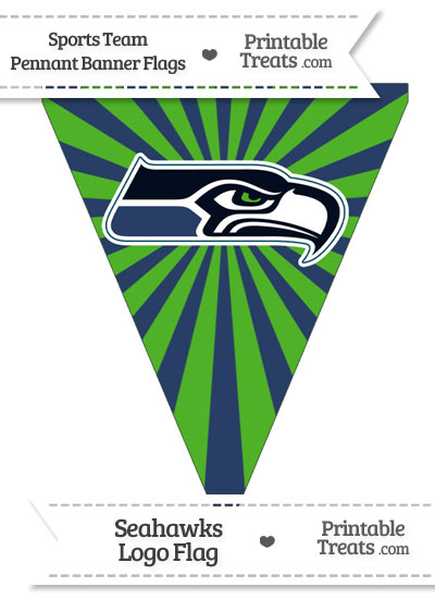 Seattle Seahawks Pennant Banner Flag from PrintableTreats.com