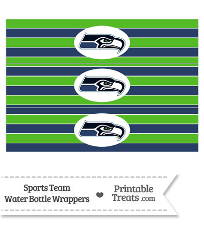 Seattle Seahawks Water Bottle Wrappers from PrintableTreats.com
