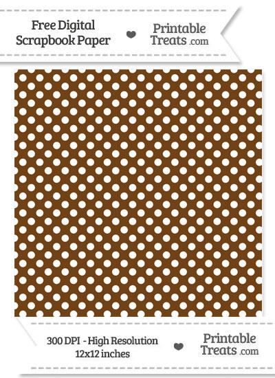 Sepia Polka Dot Digital Paper from PrintableTreats.com