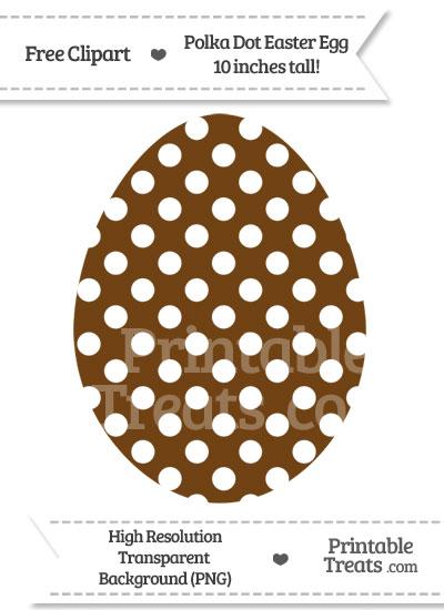 Sepia Polka Dot Easter Egg Clipart from PrintableTreats.com