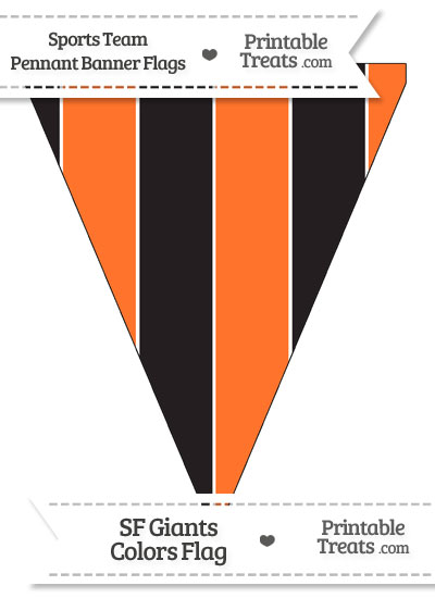 SF Giants Colors Pennant Banner Flag from PrintableTreats.com