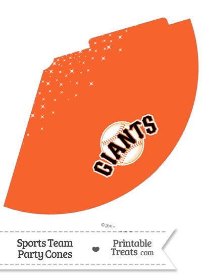 SF Giants Party Cone Printable from PrintableTreats.com