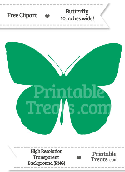 Shamrock Green Butterfly Clipart from PrintableTreats.com