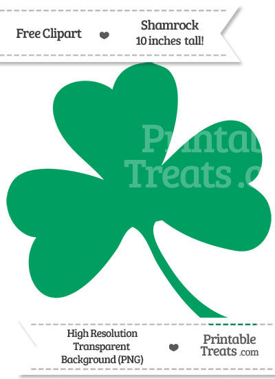 Shamrock Green Shamrock Clipart from PrintableTreats.com