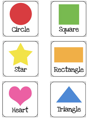 shapes flash cards printable