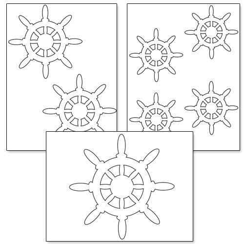 ship steering wheel template