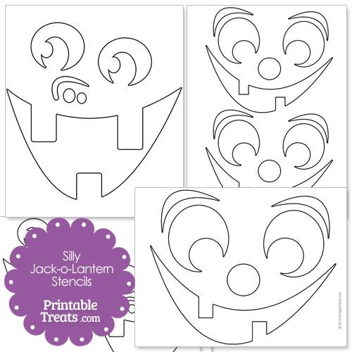 silly jack o lantern stencils