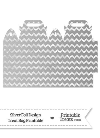 Silver Foil Chevron Treat Bag from PrintableTreats.com