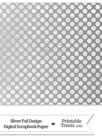 Silver Foil Dots Digital Scrapbook Paper from PrintableTreats.com