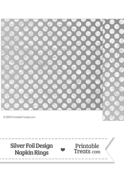 Silver Foil Dots Napkin Rings from PrintableTreats.com