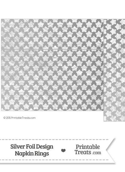 Silver Foil Stars Napkin Rings from PrintableTreats.com