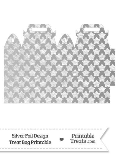 Silver Foil Stars Treat Bag from PrintableTreats.com