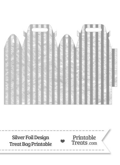 Silver Foil Stripes Treat Bag from PrintableTreats.com