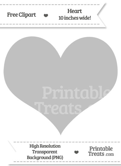 Silver Heart Clipart from PrintableTreats.com