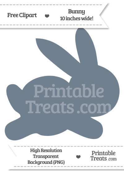 Slate Grey Bunny Clipart from PrintableTreats.com