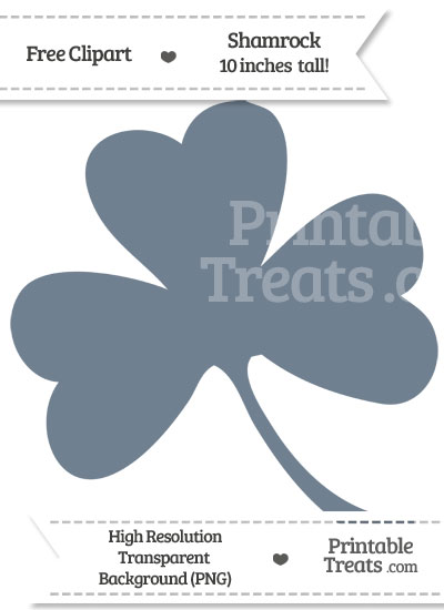 Slate Grey Shamrock Clipart from PrintableTreats.com