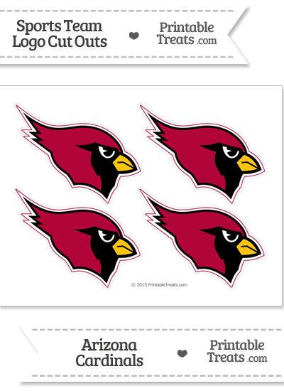 Small Arizona Cardinals Logo Cut Outs from PrintableTreats.com