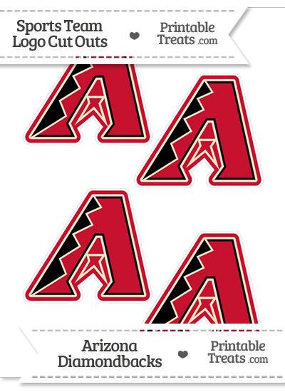 Small Arizona Diamondbacks Logo Cut Outs from PrintableTreats.com